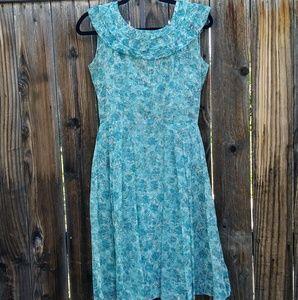 Vintage 50's Floral Dress